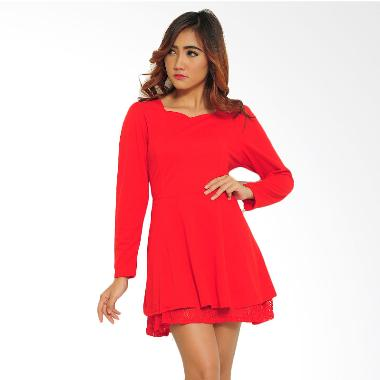 Ayako Fashion Dress Blouse Vion - Merah