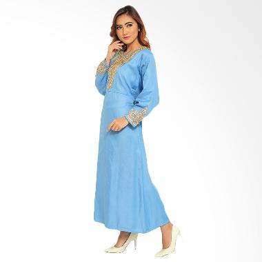 Ayako Fashion Maxi Levita Baju Muslim - Biru
