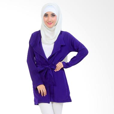 Ayako Fashion Monza Cardigan Long Sleeve - Biru