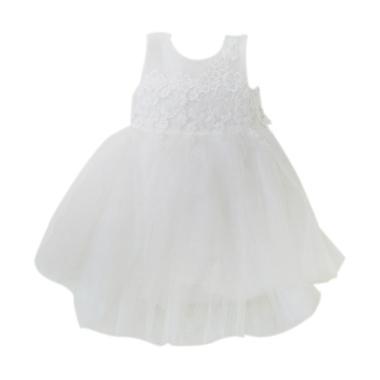 Baby Bears Brokat Dress Anak - Putih