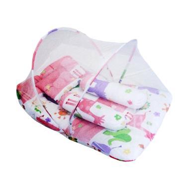 Baby Dream Kasur Lipat Kelambu - Pink