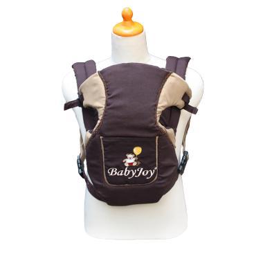 Baby Joy Ransel Dwi Fungsi Saku Depan Bordir BJG300500 Cokelat Gendongan Bayi