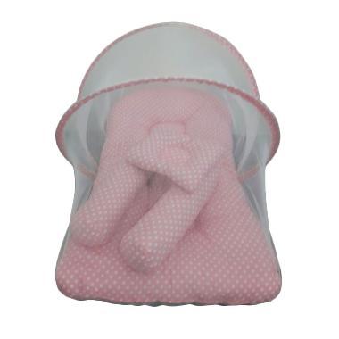 Babybess Kasur Lipat Kelambu Baby Pink