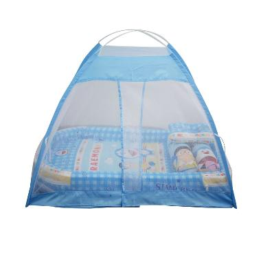 Babybess Kasur Tenda Kelambu Doraemon SBM Tempat Tidur Bayi