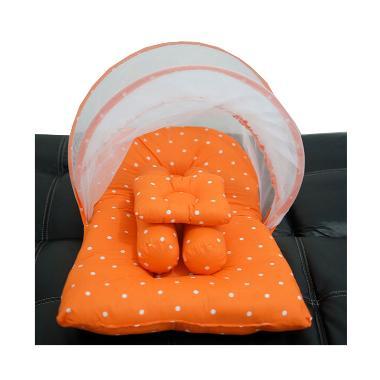 Babybess Polka Kasur Lipat Kelambu - Orange