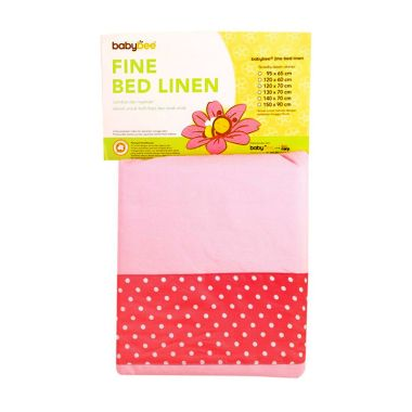 Babybee Fitted Bed Sheet Pink Polka ...