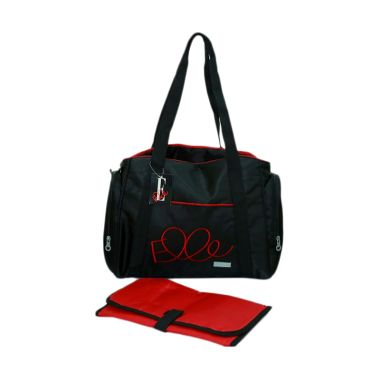 Elle Diaper Shoulder Bag Black Tas  ...