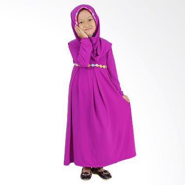 Baju Yuli Baju Muslim Gamis Anak Pe ... u dan Imut - Ungu Magenta