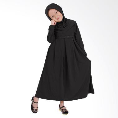 Baju Yuli Baju Muslim Perempuan Lucu dan Imut Gamis Anak - Hitam