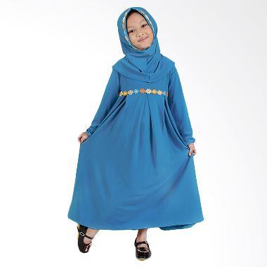 Baju Yuli Gamis Anak Perempuan Lucu dan Imut Baju Muslim - Biru