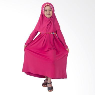 Baju Yuli Gamis Anak Perempuan Lucu dan Imut Baju Muslim - Pink