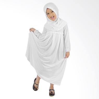 Baju Yuli Gamis Anak Perempuan Lucu dan Imut Baju Muslim - Putih