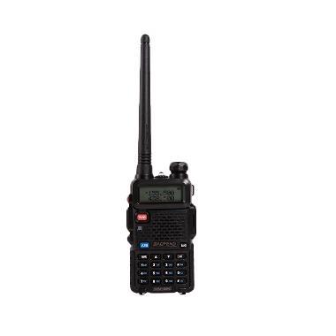 Baofeng HT Pofung Dual Band UHF VHF UV-5R Radio Walkie Handy Talky - Hitam