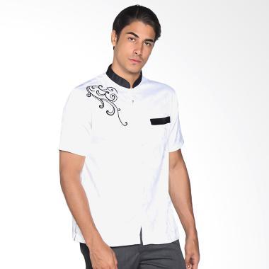 Jual Batik Adikusuma 802001016 Men Baju Koko Pria - Hitam