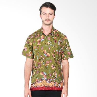 Batik Distro K7866 Motif Kupu Warna Kemeja Pria - Hijau