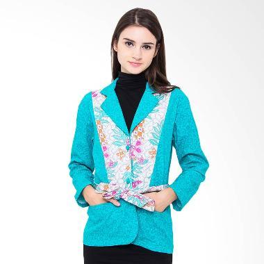Batik Etniq Craft Obi Blazer - Tosca