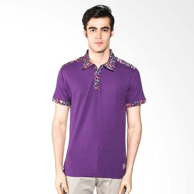 Polo Batik Heritage Full Color Atasan Pria - Ungu