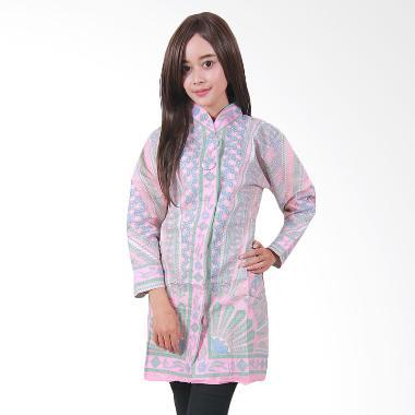 Batik Putri Ayu Solo B29 Batik Blouse Tunik Muslim - Merah