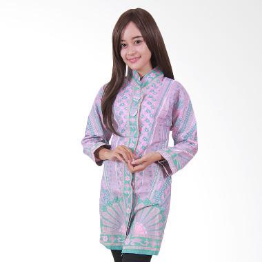 Batik Putri Ayu Solo B29 Batik Blouse Tunik Muslim - Ungu