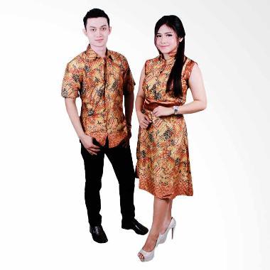 Batik Putri Ayu Solo SRD35 Sarimbit Batik Couple - Gold