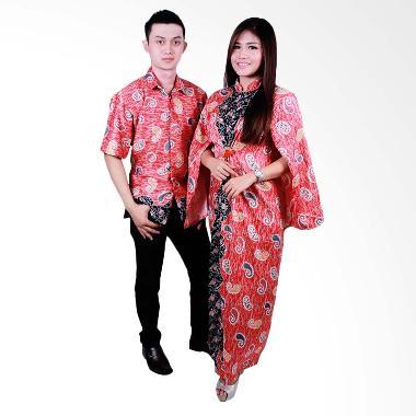 Batik Putri Ayu Solo sarimbit Gamis SRG103 Baju Batik - merah