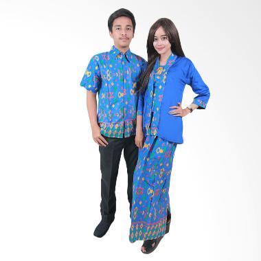 Batik Putri Ayu Solo Sarimbit Ayuna SRG 45 Batik Couple - Biru