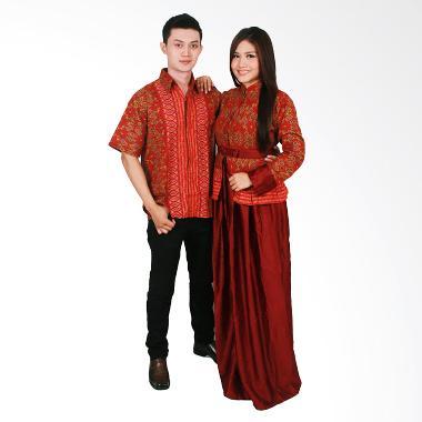 Batik Putri Ayu Solo Sarimbit SRG98 Baju Batik - Merah