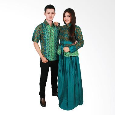 Batik Putri Ayu Solo Sarimbit SRG98 Baju Batik - Tosca