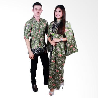 Jual batik putri ayu solo srg103 batik sarimbit gamis Baju gamis couple online