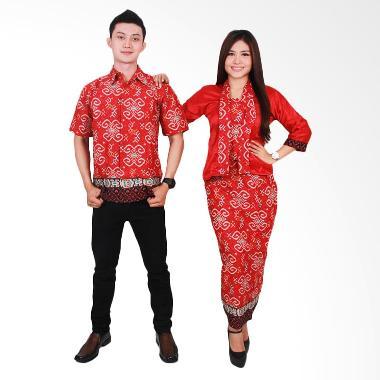 Batik Putri Ayu Solo SRG45 Sarimbit Putri Ayu Baju Batik - Merah