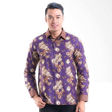 Batik Solo Cotton 16/CM010B (P3) Kemeja Batik Pria - Purple