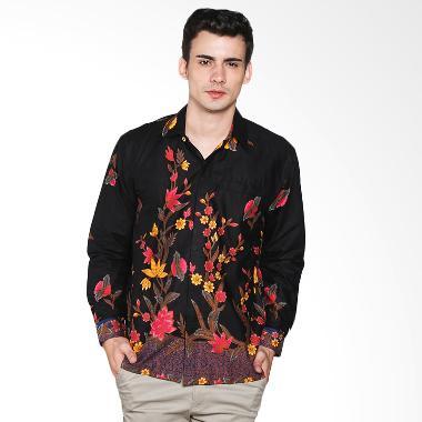 batik-trusmi_batik-trusmi-kemeja-motif-bunga-hitam-manis-kmj-mtf-hm ...