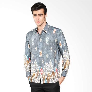 Batik Waskito Long Sleeve Baron Sil ... 8831 Grey Baju Batik Pria