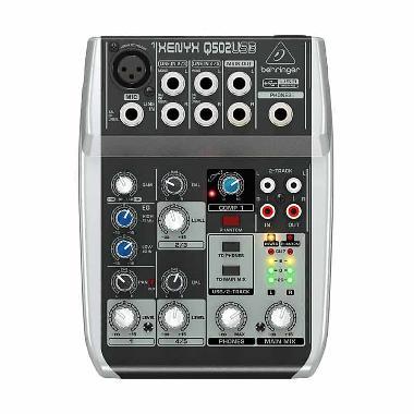 Behringer Q-502 USB Mixer Audio