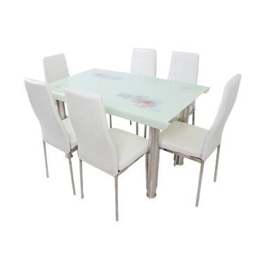 Best Furniture 4529 Dining Set Meja Makan - Putih