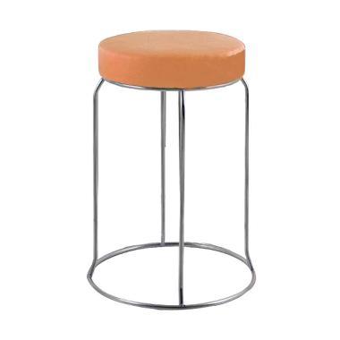 Best Furniture Sapporo Kursi Baso Besi Bulat - Orange
