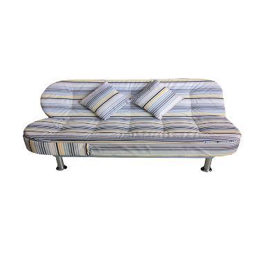 Best Furniture Wellington's Garis Putih 3in1 803 Grey Sofa Bed