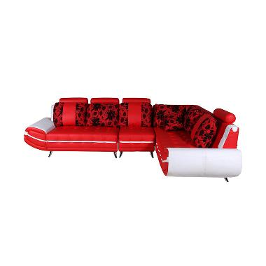 Best Furniture Wellington's L 888 21S Mirage Merah Putih Sofa