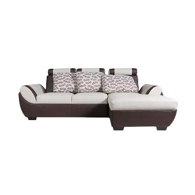 Wellington's Sofa L Vassa 2S Beige Komb Dark Brown