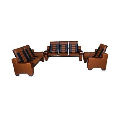 Wellington's Sofa Stainless 824 Coklat Hitam