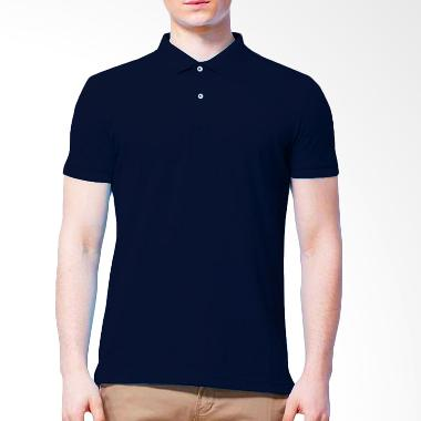 BKP Kaos Kerah Basic Colour Bahan Lacost Polo Shirt - Navy
