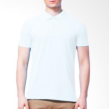 BKP Kaos Kerah Basic Colour Bahan Lacost Polo Shirt - Putih