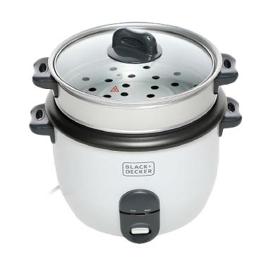 Black and Decker RC1860 - B1 Automatic Rice Cooker - Putih
