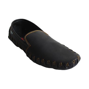 Black Master Crocodile Sepatu Pria - Hitam
