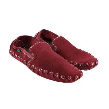 Black Master Zara Slip On Sepatu Pria - Red