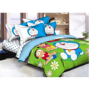 Pantone Doraemon Garden Sprei dan Bed Cover
