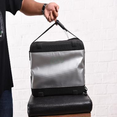 BMW Interior Silver Black Bag Tas