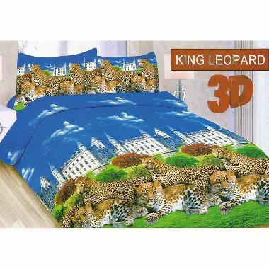 Bonita King Leopard Set Sprei [180 x 200 cm]