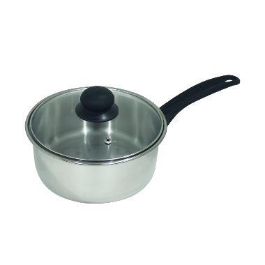Born Chef Panci / Sauce Pan Stainlesssteel 18 cm + Tutup Kaca - SP18CM