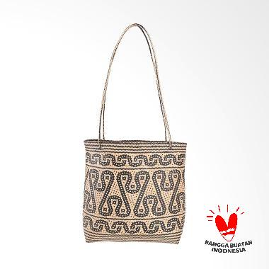 Borneo Craft Collection Tas Rotan - Natural Black TRS2